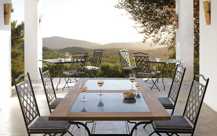 Le sedie per esterni in ferro battuto saint tropez for Sedie per esterno happy casa